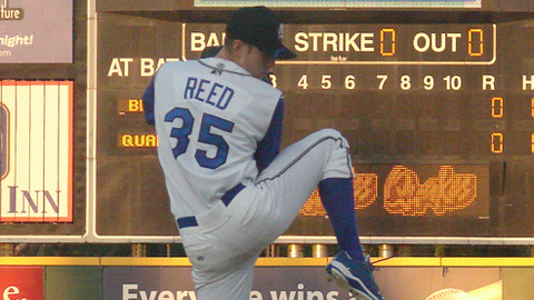 Chris Reed made three starts in the California League last summer.