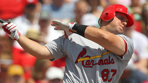 Matt Adams was the Cardinals' 23rd-round selection in the 2009 Draft.