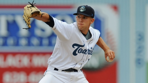 Tyler Anderson is 9-2 and leads the Sally League with a 2.49 ERA.